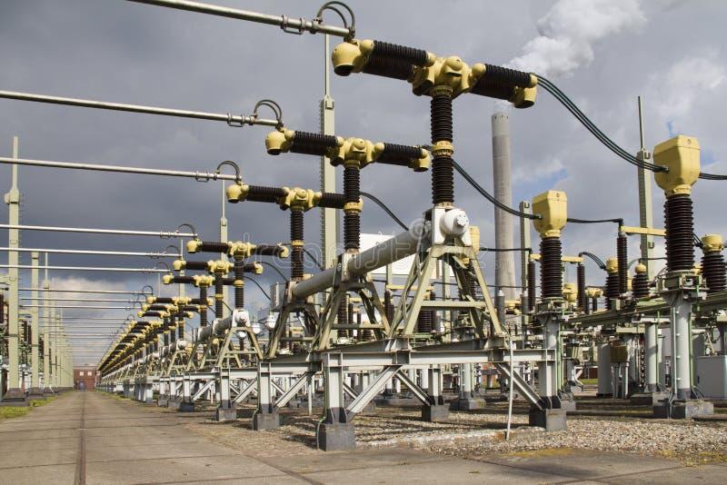 发电厂涡轮 库存照片