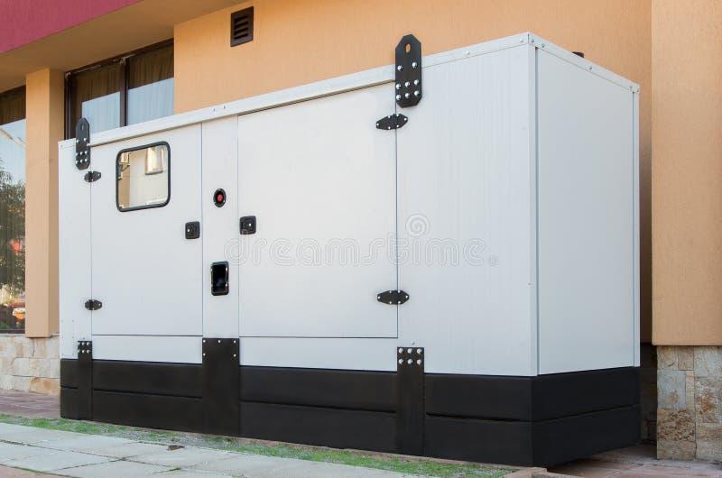 发电器房子支持紧急电力 库存照片