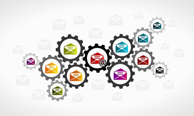 发电子邮件 向量例证