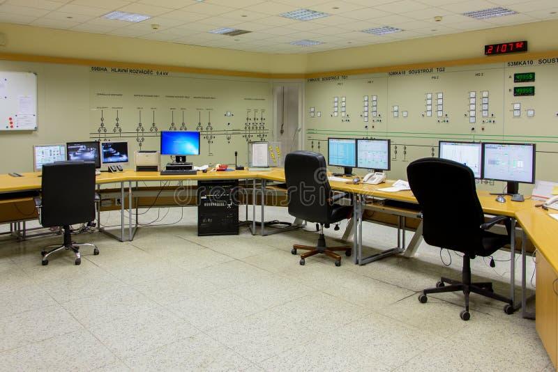 发电站控制室 免版税库存照片