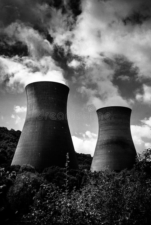 发电站污染 免版税库存照片