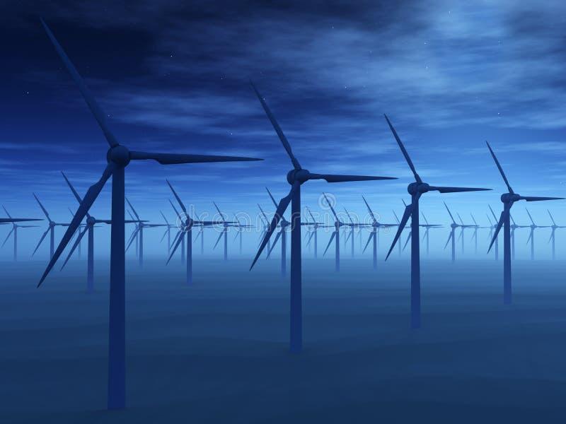 发电站风 向量例证