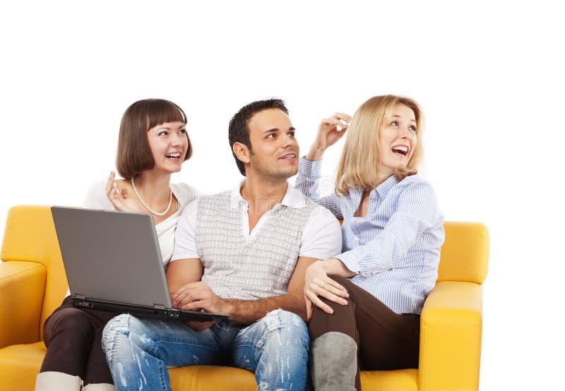 发笑人年轻人 免版税图库摄影