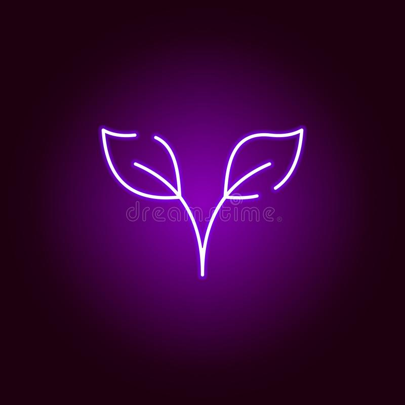 发芽在霓虹样式的象 万圣节例证的元素 标志和标志汇集象网站的,网络设计,机动性 皇族释放例证