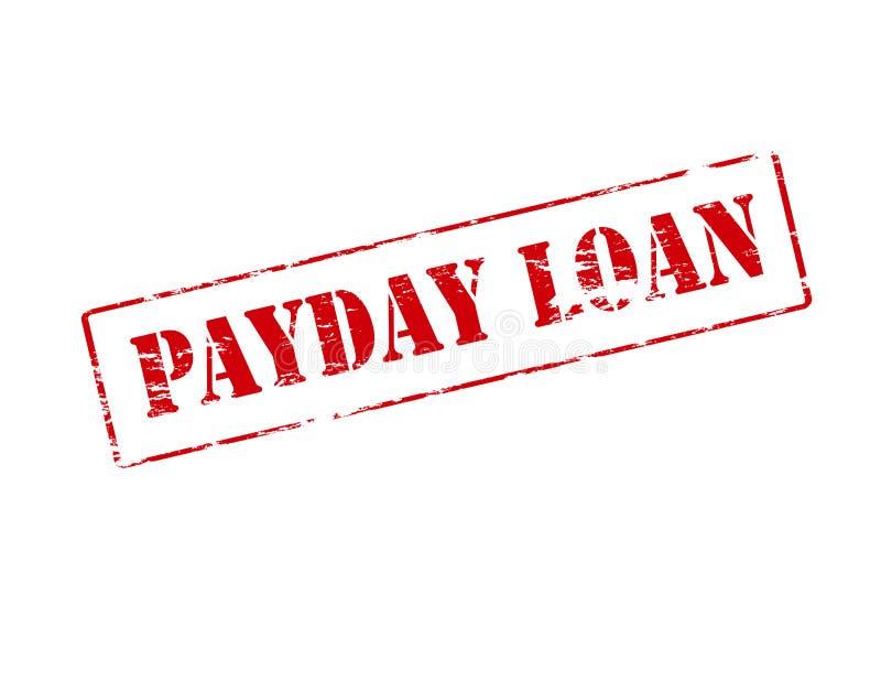 发薪日贷款 向量例证