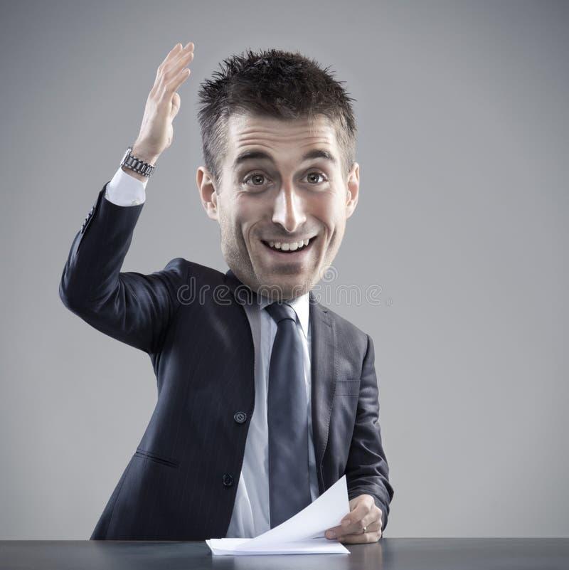 发表讲话的异常的商人 免版税库存图片
