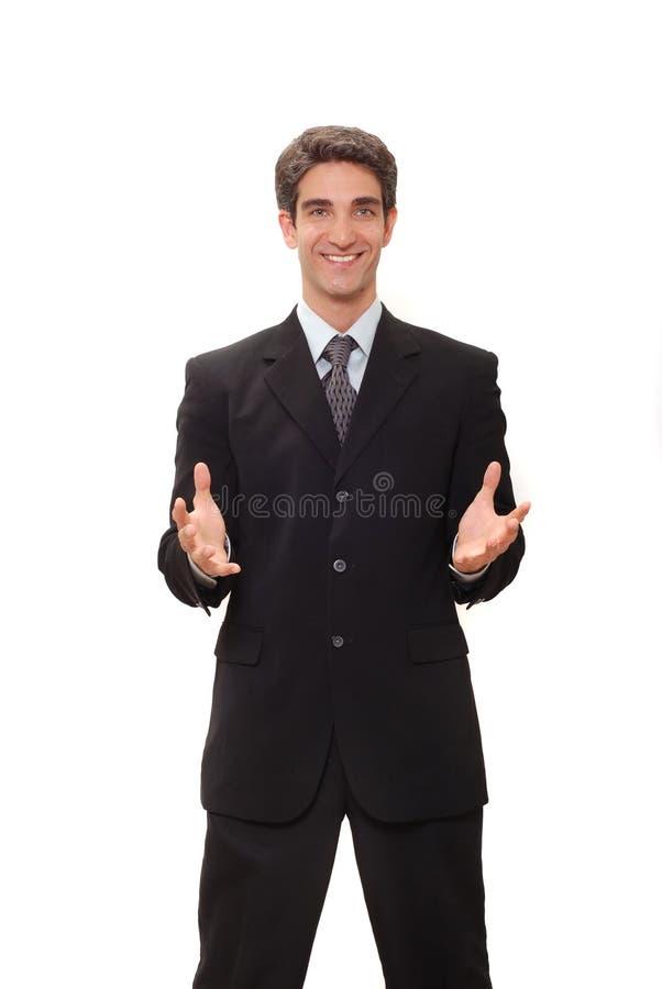发表讲话的生意人 免版税库存图片