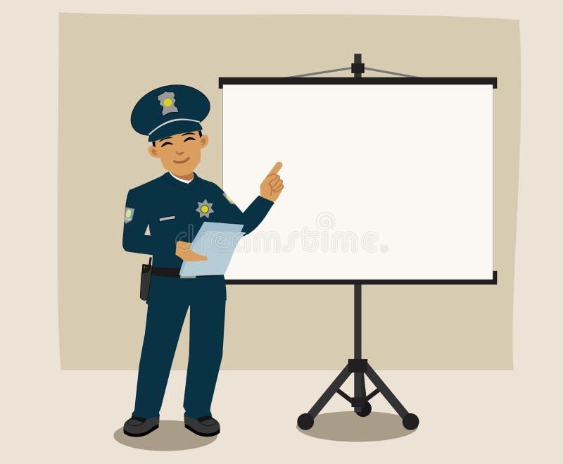 发表讲话的警察 免版税库存照片