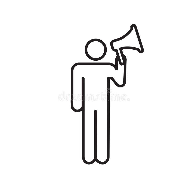 发言人象-营销位置网络& co的人 皇族释放例证