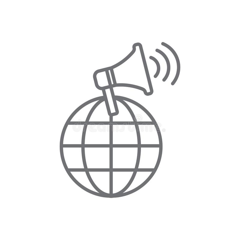 发言人象-营销位置网络& co的人 向量例证