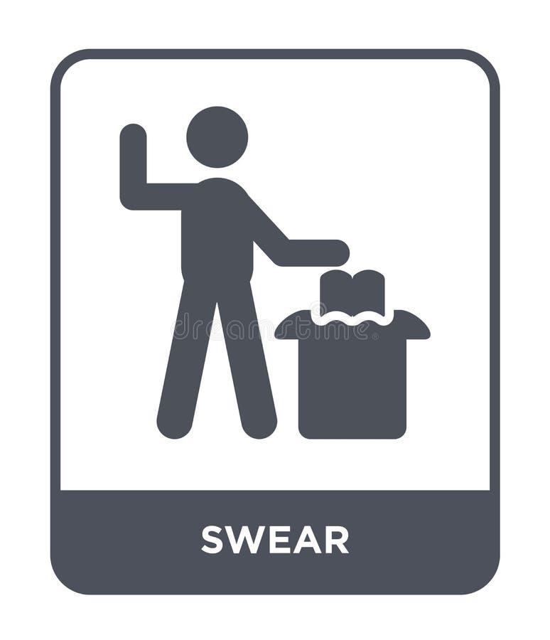 发誓在时髦设计样式的象 发誓在白色背景隔绝的象 发誓传染媒介象简单和现代平的标志为 库存例证