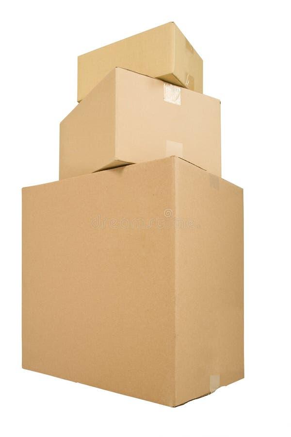 发运三的配件箱 免版税库存照片