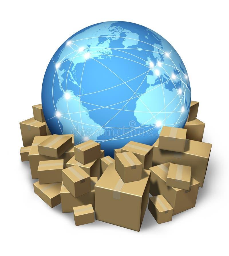 发运国际航线 向量例证