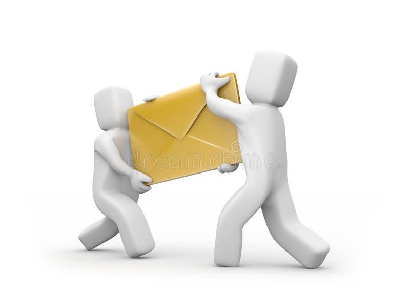 发运邮件 向量例证