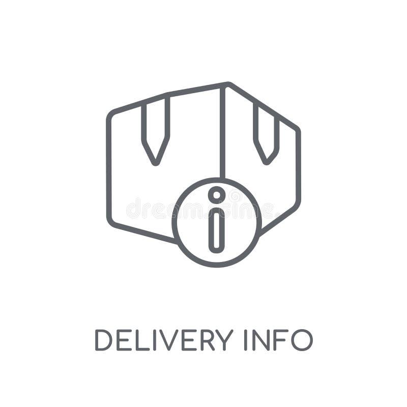 发送信息线性象 现代概述发送信息商标骗局 库存例证