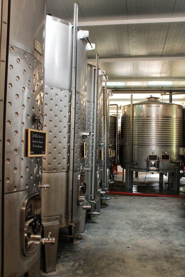 发酵和酿酒的储蓄在Azeitao,葡萄牙 图库摄影
