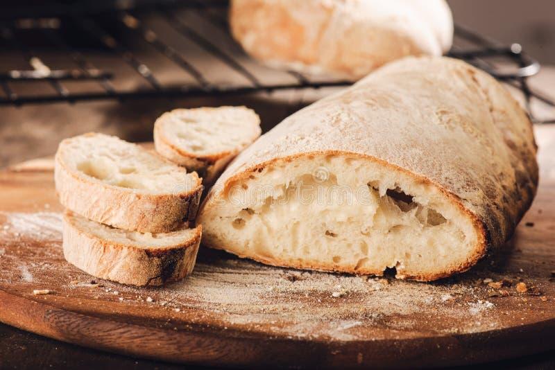 发酵母意大利面包 免版税库存图片