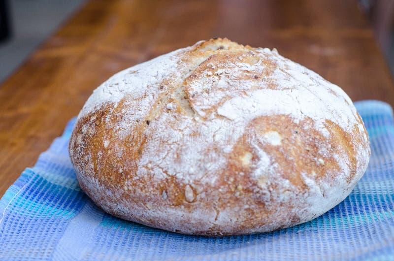 发酵母麦子面包大面包  免版税库存照片