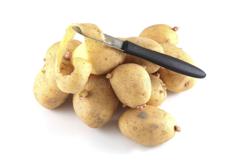发隆隆声的土豆 免版税库存图片