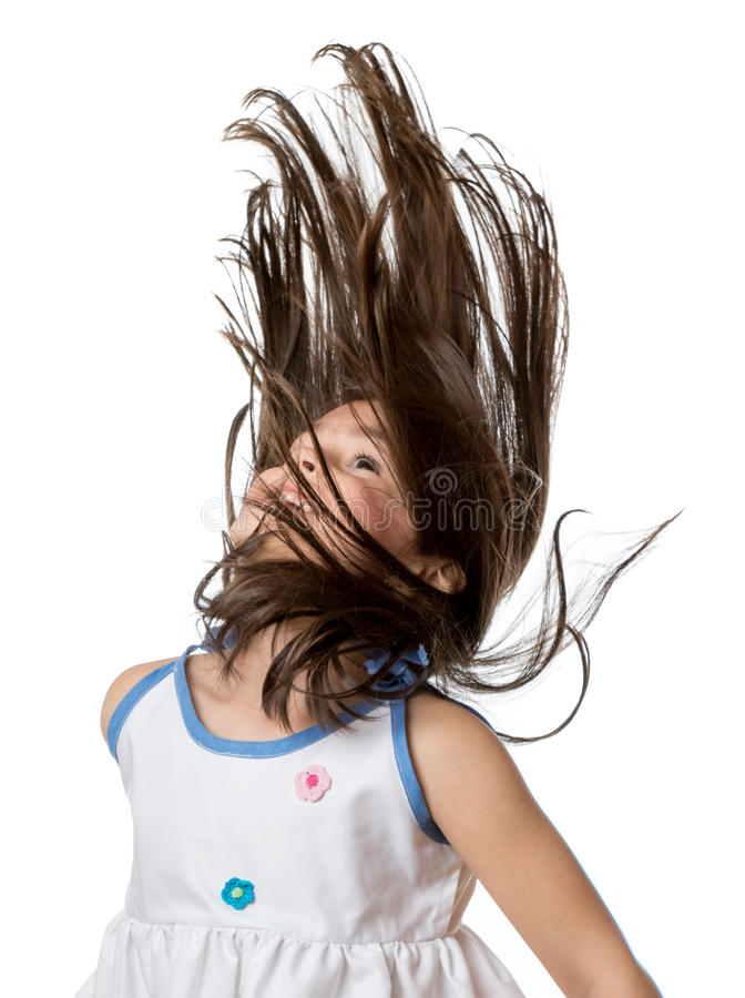 头发震动 图库摄影