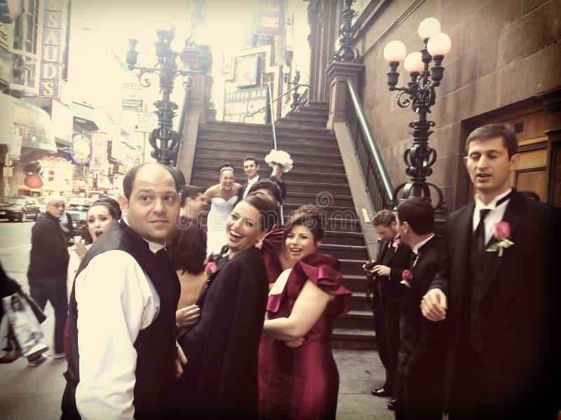 发黏的新泽西婚礼 免版税库存照片