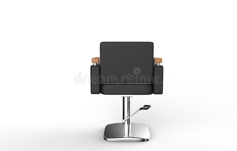 发廊椅子后面视图 向量例证