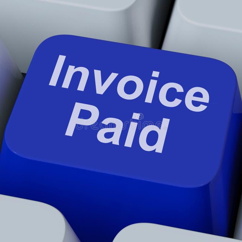 发货票付的被支付的关键海报付款 免版税库存照片