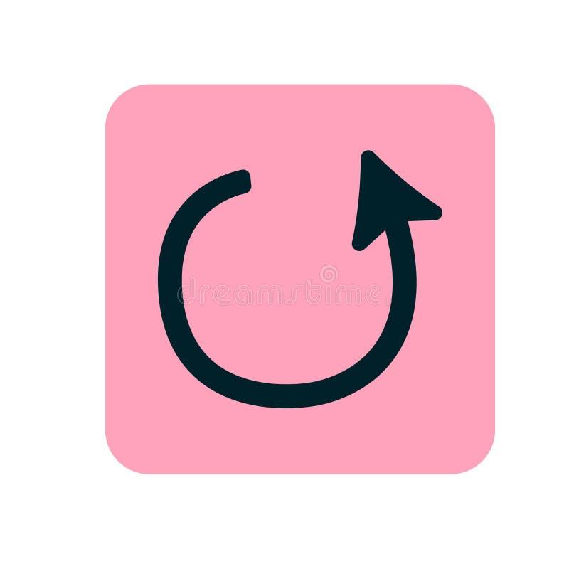 取消变动传媒播放装置象例证 桃红色平的象 也corel凹道例证向量 库存例证