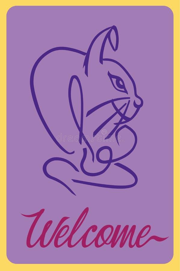 受欢迎的兔子 皇族释放例证