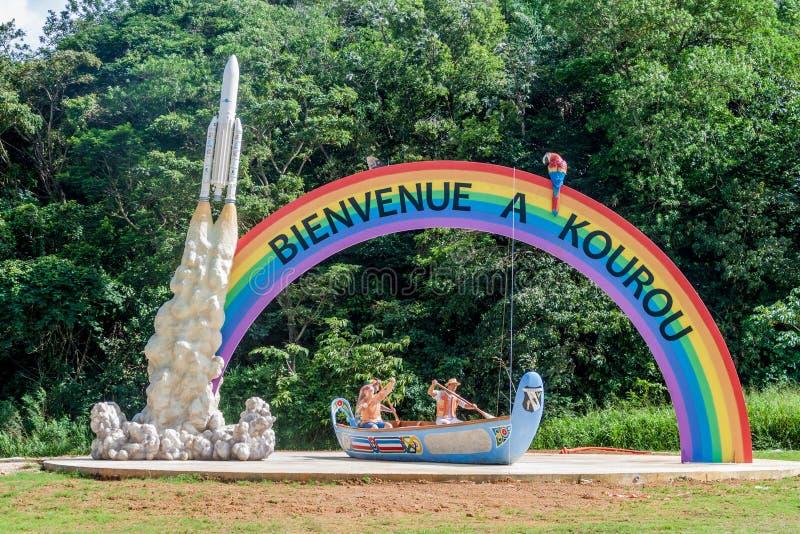 受欢迎的彩虹曲拱 免版税库存照片