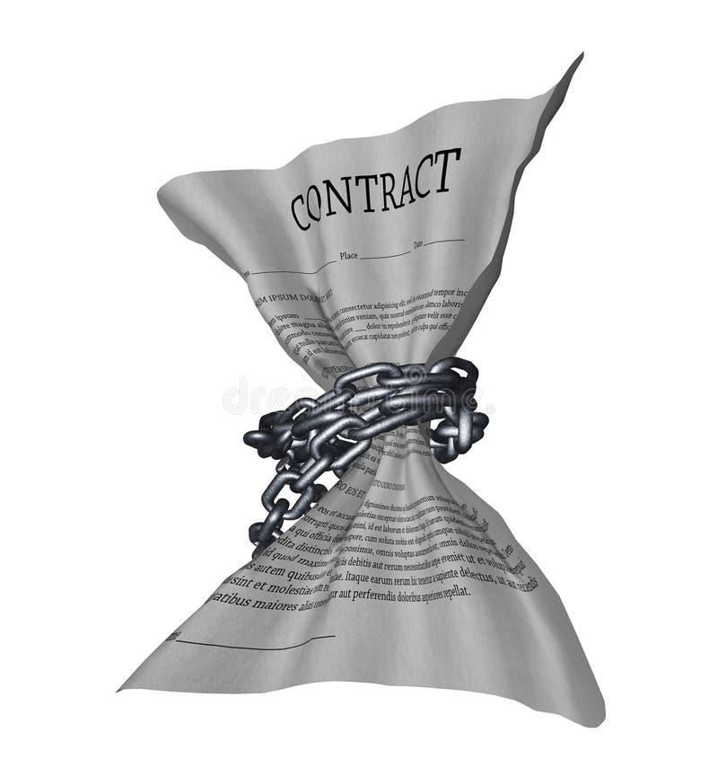 受限制的合同 库存例证