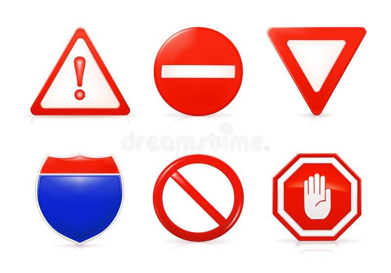受限制的符号 皇族释放例证