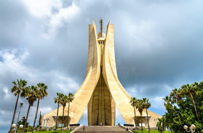 受难者纪念为在阿尔及利亚的独立战争丧生的英雄期间 阿尔及尔 库存图片