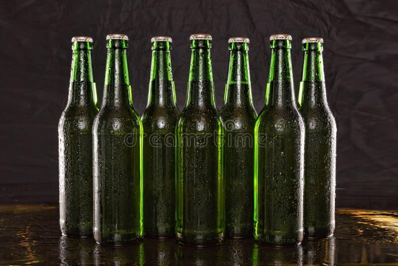 变冷的啤酒,酒精,背景,酒吧,啤酒,饮料,黑色,酿造,夏天党 库存图片