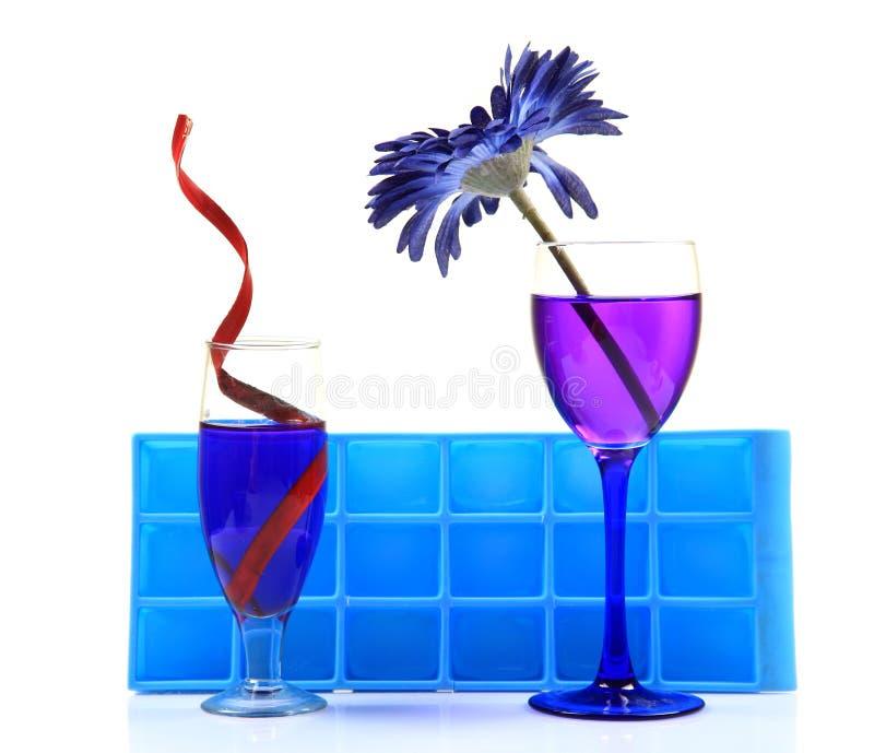 变冷的饮料当事人 库存图片