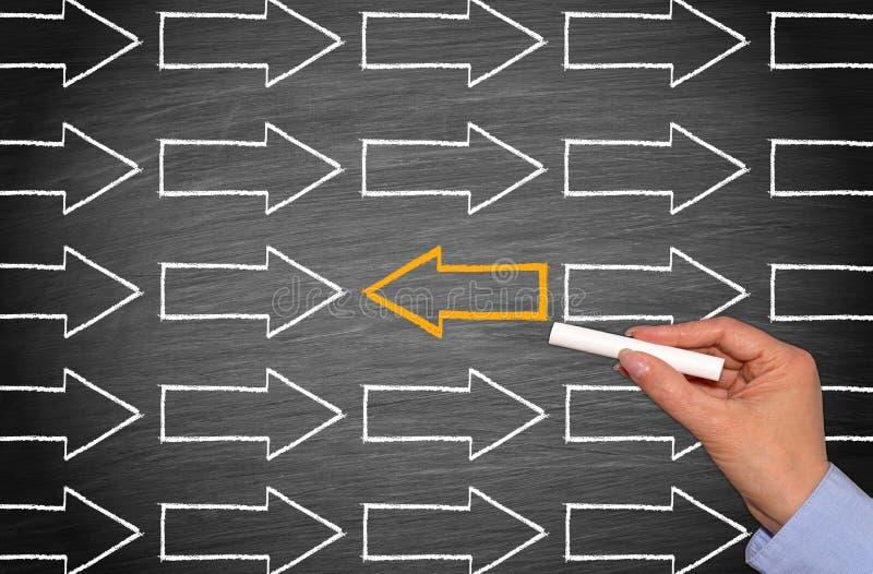 变动方向-领导企业概念 免版税图库摄影