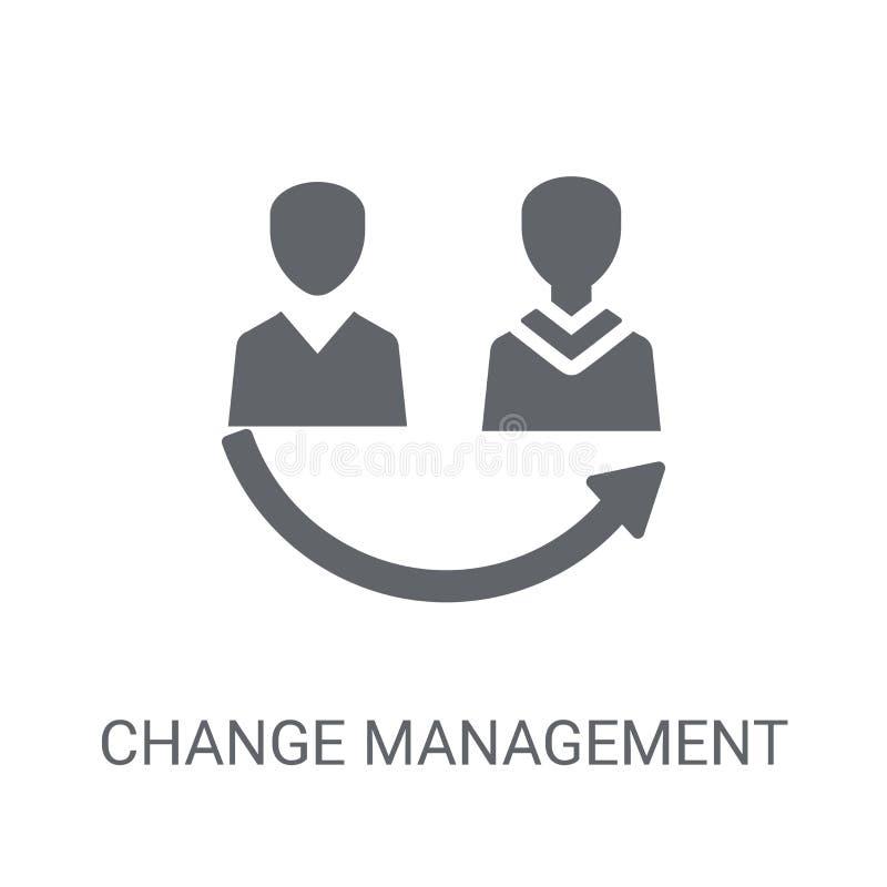 变动管理象 时髦变动管理商标概念 向量例证