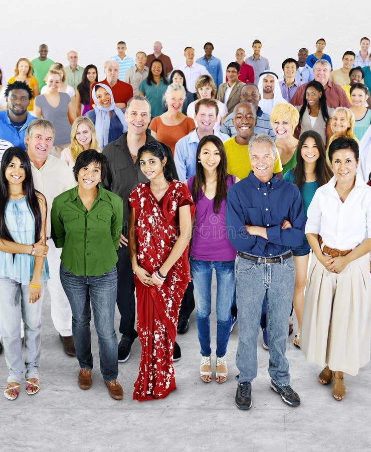 变化大人不同种族的概念 库存照片