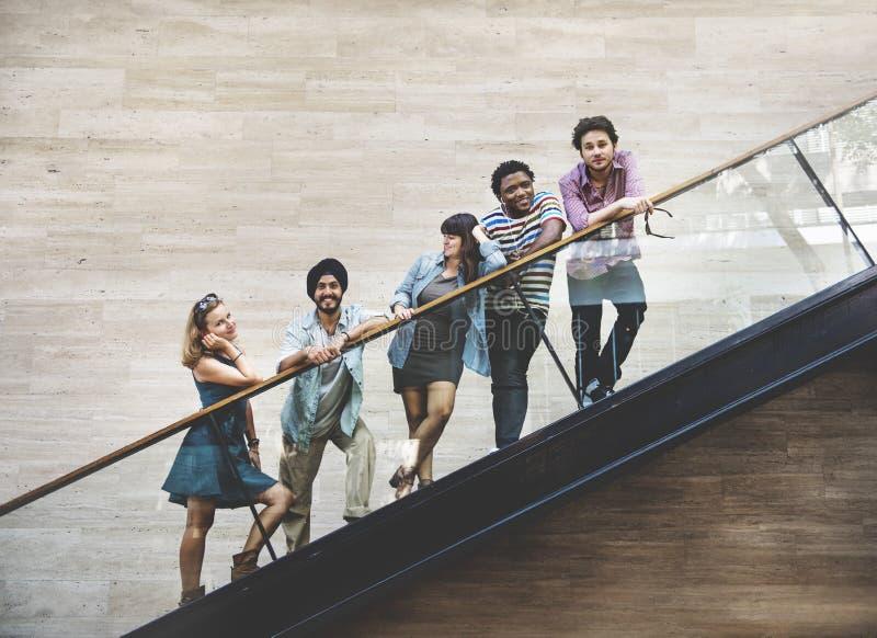 变化少年朋友青年文化概念 免版税库存照片