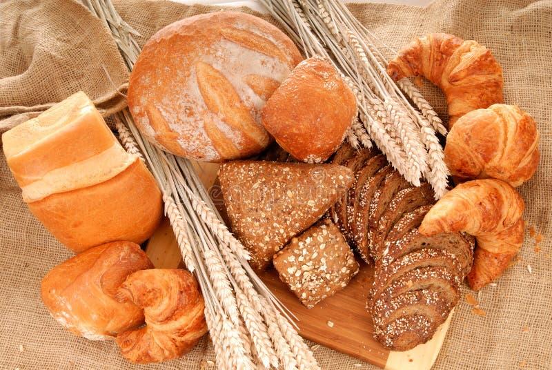 变化的面包显示 库存图片