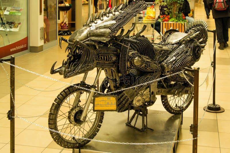 变压器摩托车 库存图片