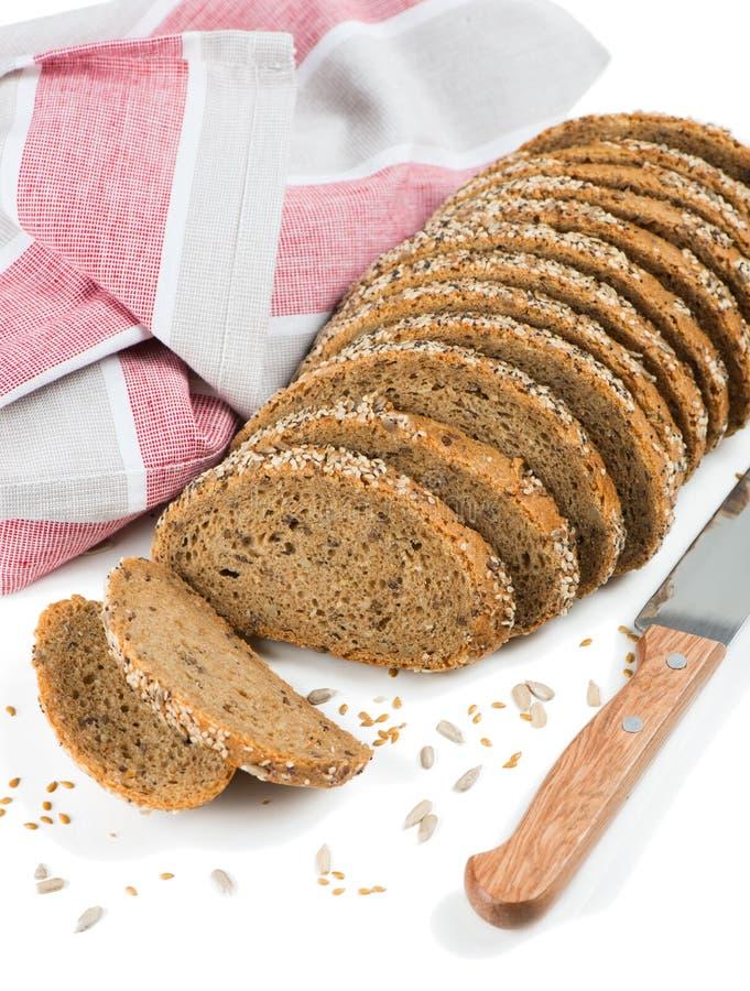 变异种子倒的面包 免版税库存照片