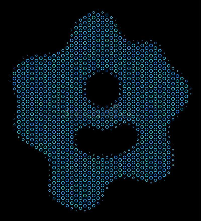 变形虫细胞半音圈子拼贴画象  向量例证
