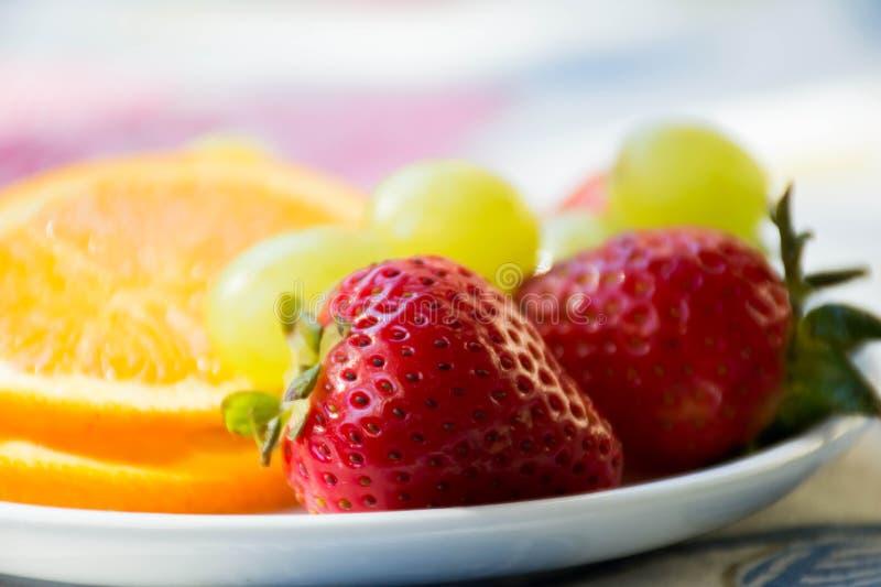 变得新鲜和水多的早餐 免版税库存图片