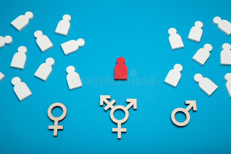变性和LGBT权利、换性者和两性体 库存照片