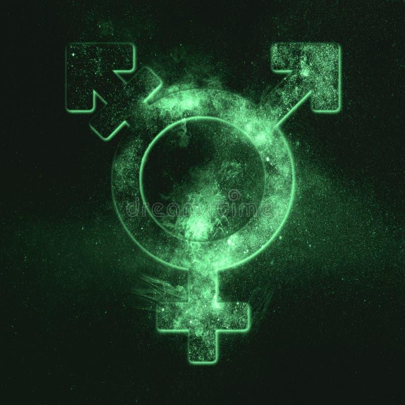 变性标志 Trans性别标志 绿色符号 图库摄影