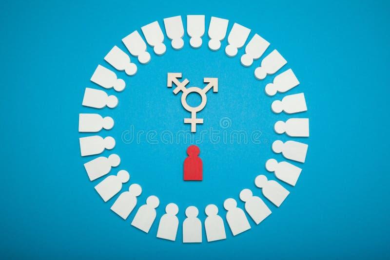 变性行动主义,民用两性体概念 免版税图库摄影