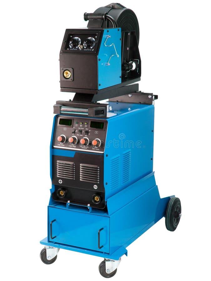变换器有导线上料机构的焊接器 免版税库存照片