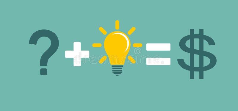 变换想法成企业概念 库存例证