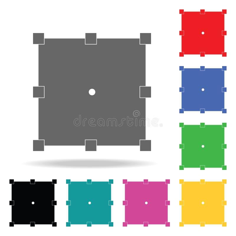 变换按钮象 在多色的象的元素流动概念和网apps的 网站设计和发展的象, 库存例证